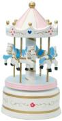 "MusicBox Kingdom 16012 210mm Carousel Music Box Playing "" Waltz"", White"