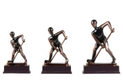 Abstract Copper Hockey Player (M) Figurine.