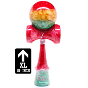 XL 25cm Full Rasta Marble Kendama And Extra String