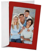 SIMPLICITY RED Photo Insert Card sold in 10s - 4x6