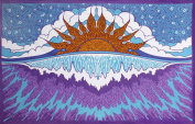 Sunshine Joy Sunset Wave Indian Tapestry Beach Sheet Hanging Wall Art - 150cm x 230cm -Magical Decor for Dorms & Apartments