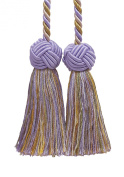 Double Tassel / Lilac Gold / Tassel Tie with 8.9cm Tassels, Baroque Collection Style# BCT Colour