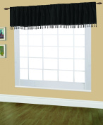 Editex Home Textiles Elaine Lined Pinch Pleated Valance, 120cm by 46cm , Black