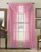 Neon Pink (Fushia) 550cm Sheer Window Scarf