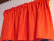 130cm wide x 38cm long WINDOW CURTAIN VALANCE MADE FROM COTTON Solid Orange Tangerine FABRIC