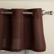 Lorraine Home Fashions Jackson 150cm x 90cm Tier Curtain Pair, Chocolate