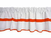 Baby Doll Modern Hotel Style Window Valance, Orange