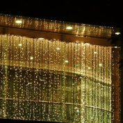 6M x 3M 600 LED Outdoor Party String Fairy Wedding Curtain Light christmas xmas Home Garden Decorations, 8 Modes Controller