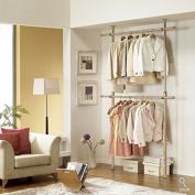 Prince Hanger Premium Wood 2tier Hanger / Wood Colour Coated Steel