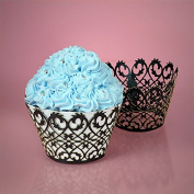 Cupcake Wrappers - 50ea - Black Fence Cupcake Wrapper 2 X 2