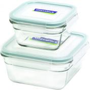 Glasslock 4-Piece Square Oven Safe Container Set