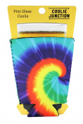 Coolie Junction Tie Dye Pattern Pint Glass Coolie