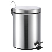 5 Litre/1.3 Gallon Small Round Stainless Steel Step Trash Can
