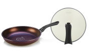 TeChef - Art Pan Collection 28cm Frying Pan with Lid, Coated 5 times with Teflon Select Non-Stick Coating (PFOA Free) /