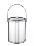 Kraftware Polished Chrome Ice Bucket with Triband Accents and Track Handle - 4.7l