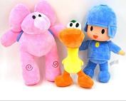 Catchvogue 3pcs Plush 28cm Pocoyo,Pato,Elly Cartoon Stuffed Plush Toys