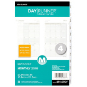Day Runner Monthly Planner Refill 2016, 14cm x 22cm Page Size