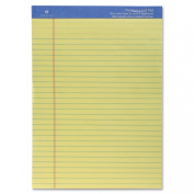 Sparco Perforated Wide Pad, 50 Sheets, 22cm x 30cm , Canary