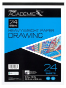 Mead Académie Drawing Pad, 24 Sheets, Acid Free, 23cm x 30cm Sheet Size