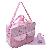 XXL 3 Pc. Baby Nappy Bag / Travel Bag - Pink - Multiple Colours Available