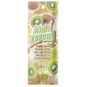 FIESTA SUN KIWI KAPOW DOUBLE DARK TANNING LOTION WITH FAST ACTION MAXIMIZERS AND FIRMING COMPLEX SUNBED TANNING SACHET 22ML