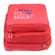 Greenery Travel Bag Luggage Organisers Bag Storage Cube Travel Organiser Suitcase Organiser Mesh Bags Packing Cubes - 3pc Set