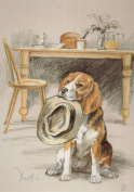 Beagle Print, Beagle Picture, Limited Edition Beagle Print By David Thompson DT6