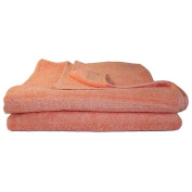 Super Absorbant, Thick and Fluffy Bath Towel/Sheet - Ideal for Home or Spa, B & B, Hotel and Hotel Use - 500gsm - 100% Cotton - 140cm x 70cm - Peach
