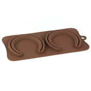 2 cell Lifesize Horse Shoes Chocolate / Candy Bar Silicone Mould