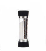 Home Fashions Contemporary Salt and Pepper Grinder Set(Stainless Steel)-Black