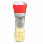 Set of 3 Home Fashions Contemporary Salt and Pepper Grinder Set (Red) 6.5*18.5CM