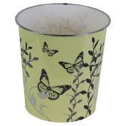 JVL Cream Butterfly Home Novelty Plastic Waste Paper Bins 25 x 26.5cm