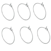 Homgaty 100 Pcs Silver Plated Wine Glass Charm Rings Earring Hoops Wedding Party Decorations