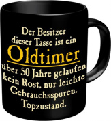 Owner of this Mug is AN Old - 50.Ceramic Mug in Gift Box 9 CM Height 5 CM