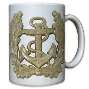 Navy Blue German Army Marine Anchor Eichenkranz Oak Leaves Bundesmarine Germany SAILOR CAPTAIN 9196 T-Coffee Mug