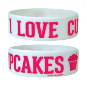 Cupcakes - I Love - Silicone Wristband for Collectors - Wrist Bands - Width: 24 mm, Diameter