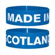 Fun - Made In Scotland - Silicone Wristband for Collectors - Wrist Bands - Width: 24 mm, Diameter