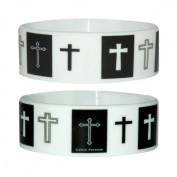 Fun - Crosses - Silicone Wristband for Collectors - Wrist Bands - Width: 24 mm, Diameter