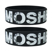 Fun - Mosher - Silicone Wristband for Collectors - Wrist Bands - Width: 24 mm, Diameter