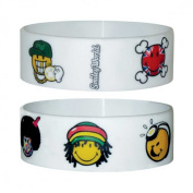 Smiley - Characters - Silicone Wristband for Collectors - Wrist Bands - 24 x 65 x 1 mm Stretchy