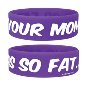 Fun - Your Mommas So Fat - Silicone Wristband for Collectors - Wrist Bands - Width: 24 mm, Diameter