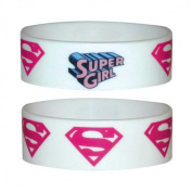 Supergirl - Logo Repeat - Silicone Wristband for Collectors - Wrist Bands - 24 x 65 x 1 mm Stretchy