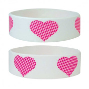 Fun - Heart - Silicone Wristband for Collectors - Wrist Bands - Width: 24 mm, Diameter