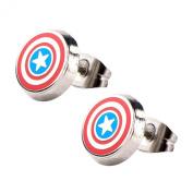 Official Avengers Captain America Stainless Steel Stud Earrings