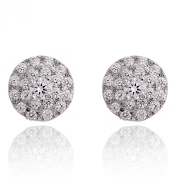 THEA Earrings - Silver plated sparkly crystal stud earrings - nickel free - Joma Jewellery with Gift bag