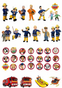 38 Fireman Sam & Penny Stand Up Edible Wafer Paper Cake Toppers
