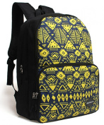 Geometry Pattern Nylon Backpack Students School Bag for Teenage Boys Girls