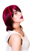 Prettyland C741 - Ombré Look 35cm wig midlong with 3 tone streaked - faceforming stepped - red