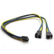 kenable PWM Fan Splitter Cable 4 Pin Plug to Twin Male 4 Pin Sockets 30cm