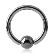 Titanium Ball Closure Ring - Tiglow 1.2mm x 6mm